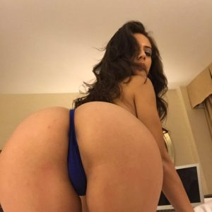 Celeb adult star jynx maze laying on bed showing off her ass