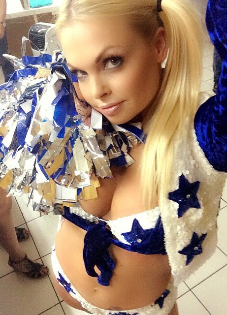 celeb porn star jesse jane in a cowboys cheerleader outfit