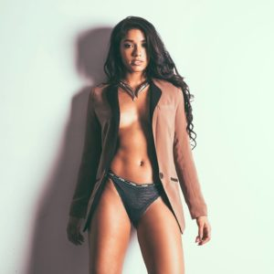 topless pic of yovanna ventura in thong and tan jacket