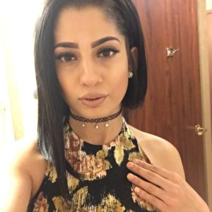 sexy selfie of Arabian beauty porn star Nadia Ali