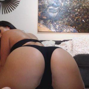 Celeb Eva Lovia bent over showing ass