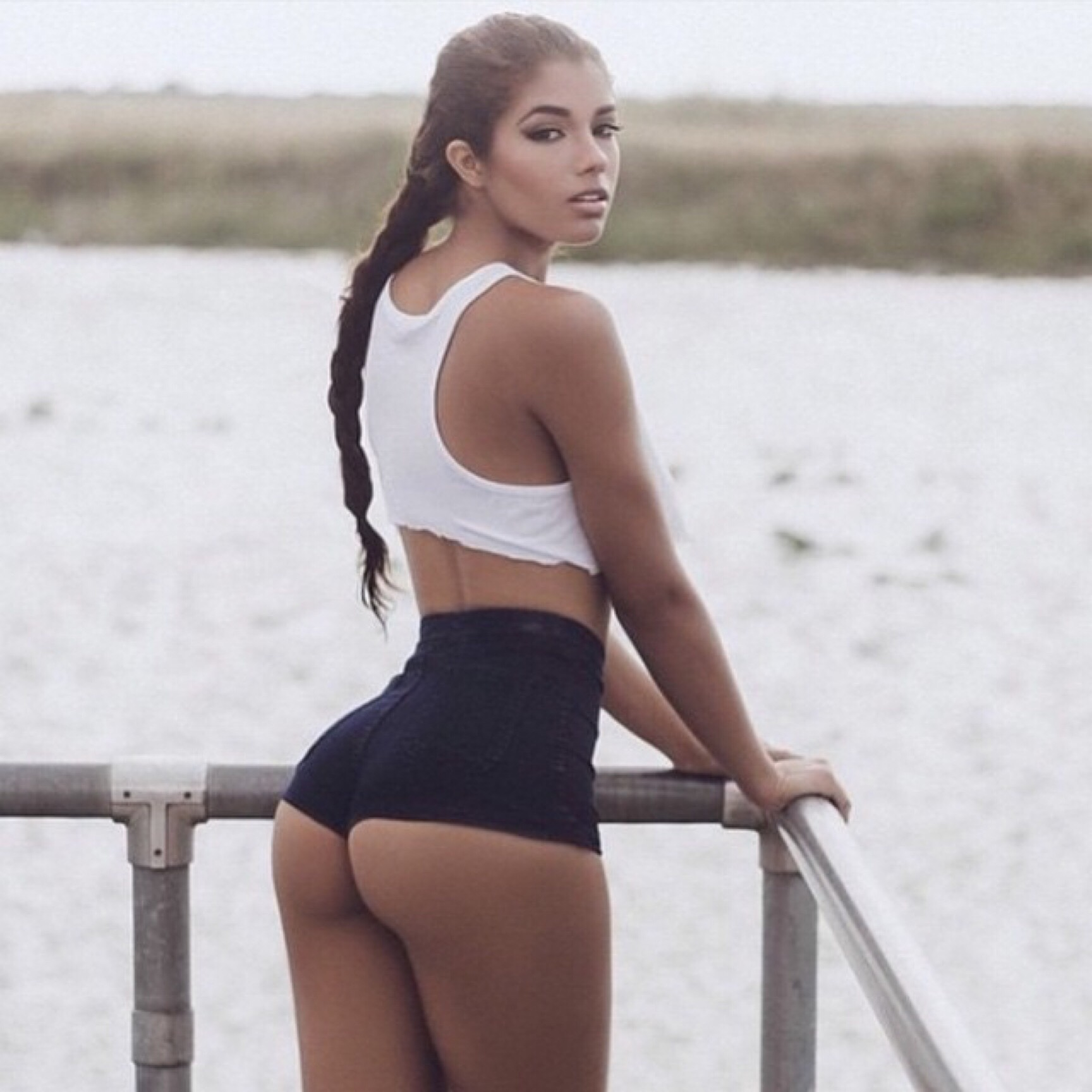 beautiful booty of yovanna ventura sticking out of her little spandex shorts