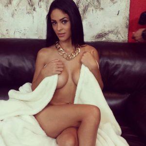 gorgeous lebanese lady jasmine caro naked under a blanket