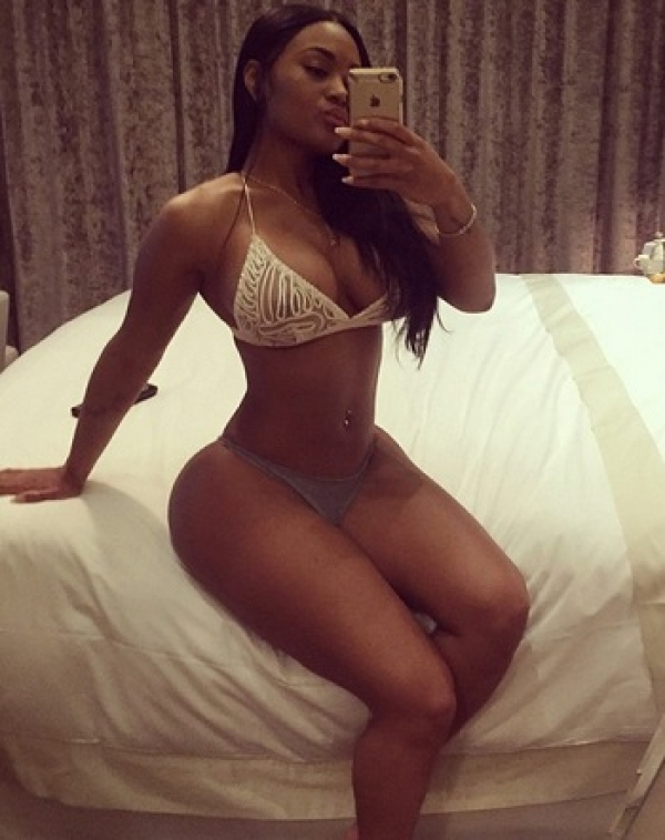 celeb lira galore taking mirror selfie showing off her thick thighs