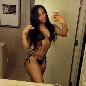 social media babe lira galore taking a mirror selfie in a scandalous bikini