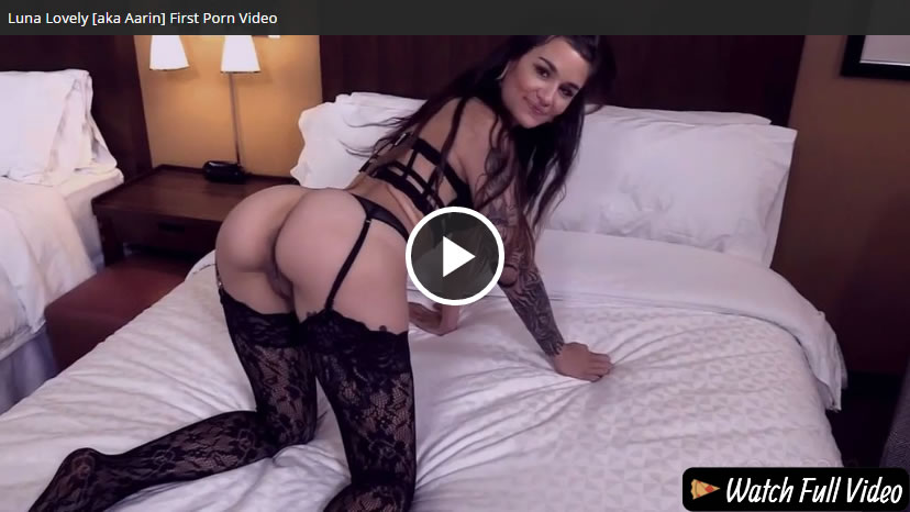 Aarin (Luna Lovely) first anal porn video