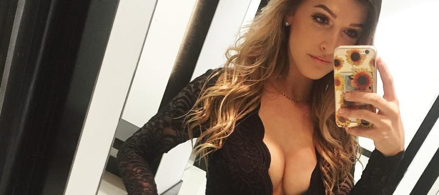Jessica Hull hot black dress selfie
