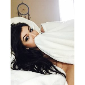 Jessica Hull in bed