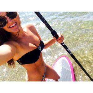 Jessica Hull paddleboarding