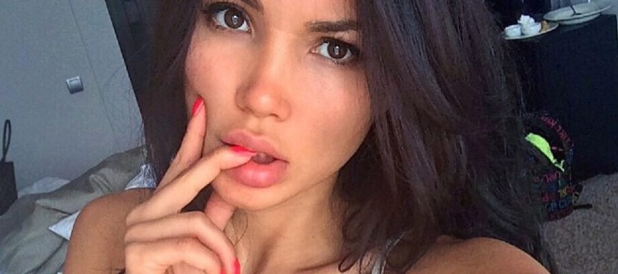 bilyalova sveta sexy instagram pic of her taking a selfie with fingers in her mouth