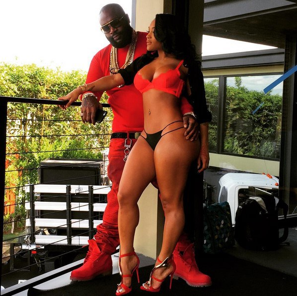 rick ross and lira galore in tiny bikini showing off her hot body and toned legs