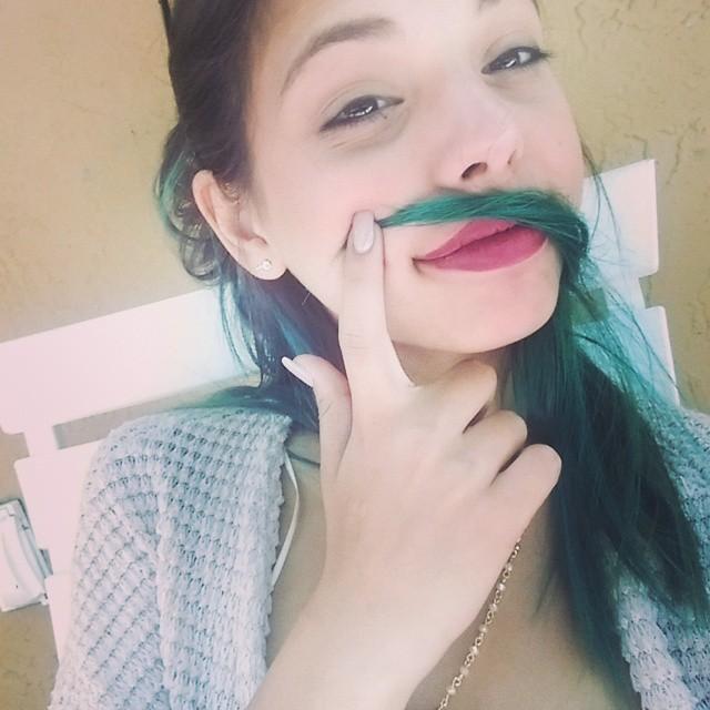 Gina Valentina hair mustache