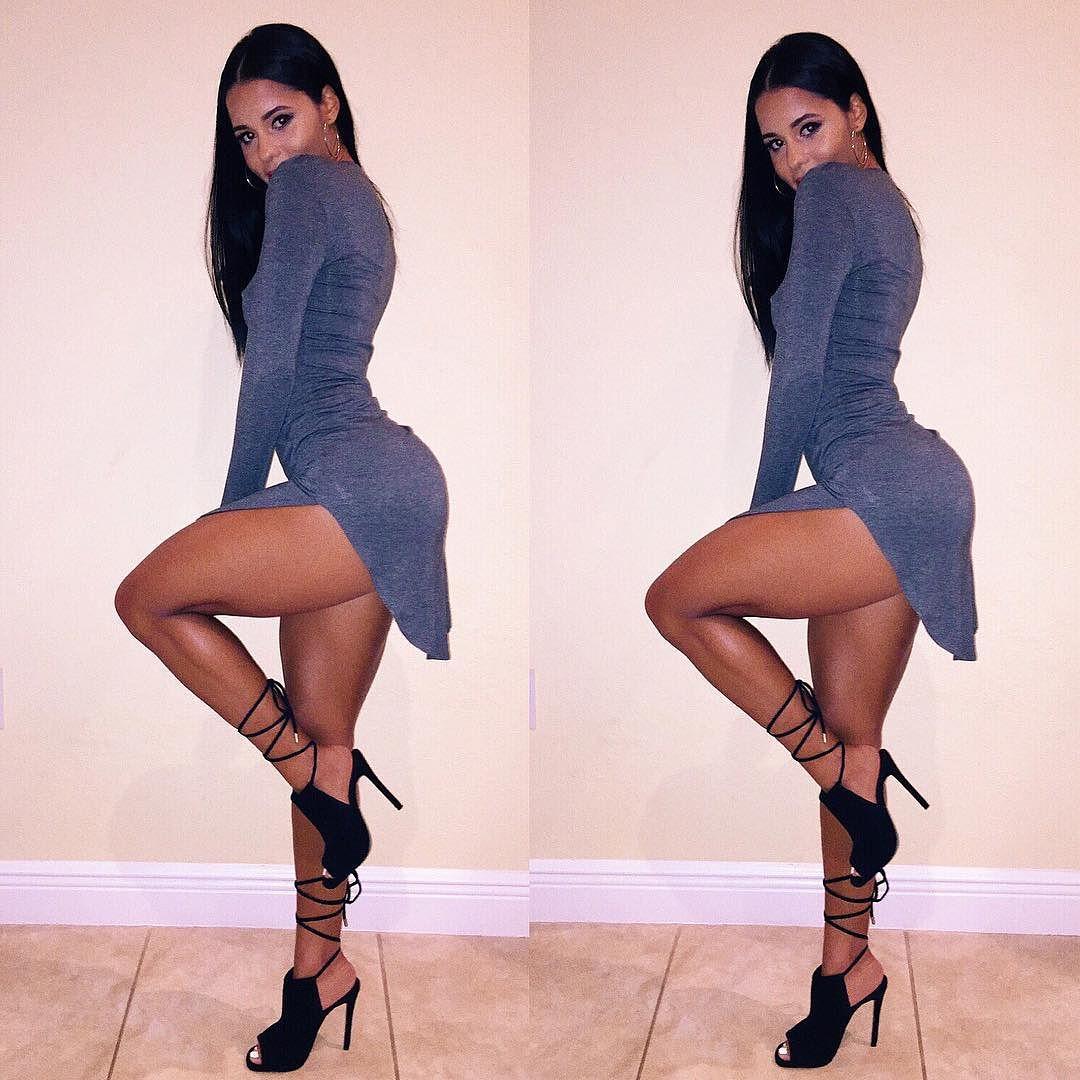 Hot instagram model Katya Elise Henry showing off her toned sexy legs