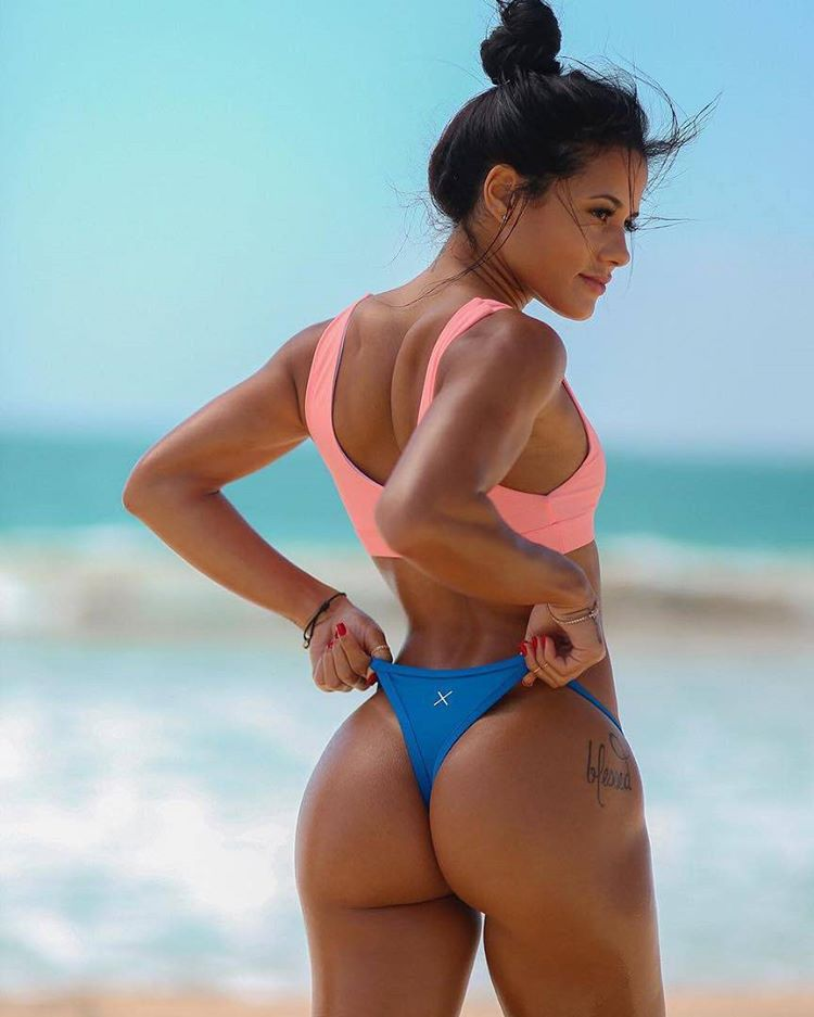 beautiful pic of instagram babe katya elise henry in thong at the beach