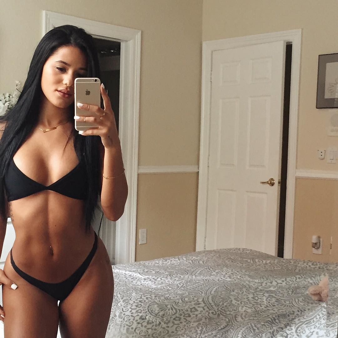 sexy mirror selife by katya elise henry in lingerie