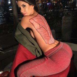 side nude boobs exposed of jen selter topless in red pants
