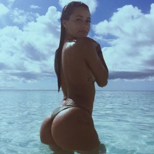 social media star katya elise henry in the ocean topless with ass showing